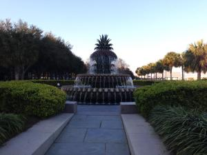 The friendly desk clerk at the hotel (who grew up near my home town!) mentioned the fountain that looked like a giant pineapple as a Must See. And I happened upon it (in Waterfront Park)  and recognized it immediately.