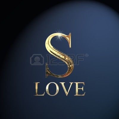 14052916-gold-alphabet-letter-s-word-love-on-a-blue-background